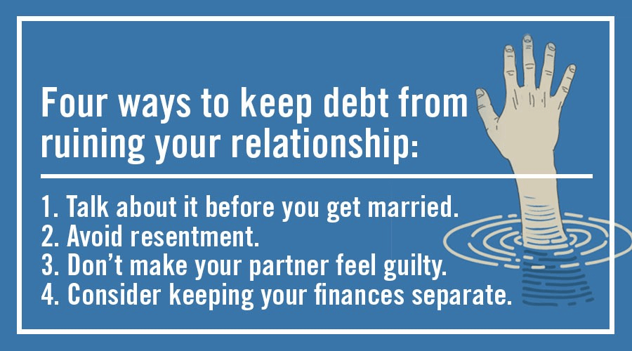 Precautions to take when you marry someone with debt