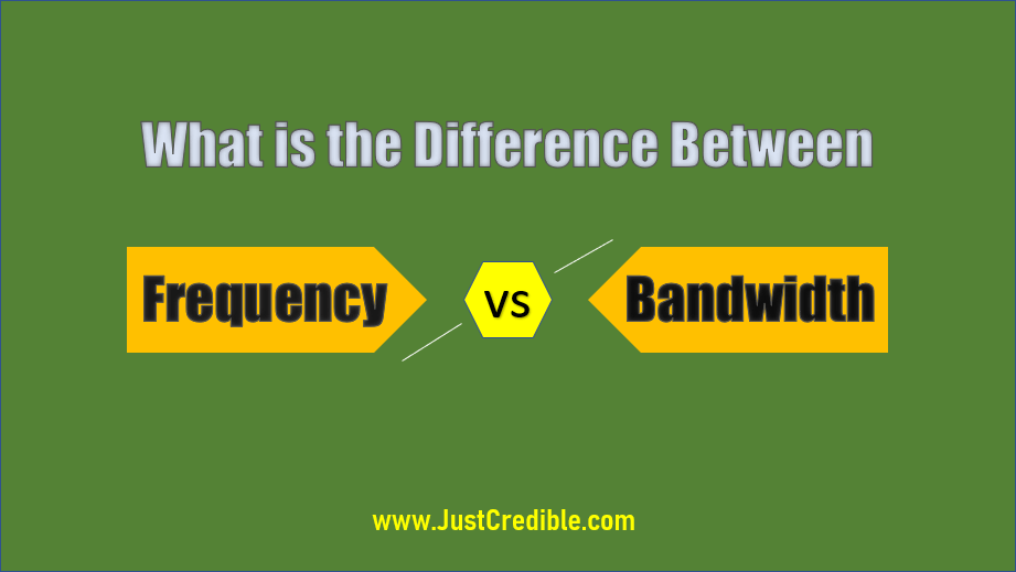 Difference Between Frequency and Bandwidth