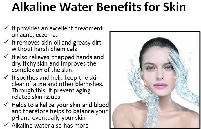 Alkaline water benefits for skin