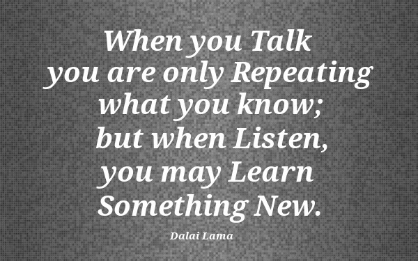 Times When Listening is More Important Than Speaking
