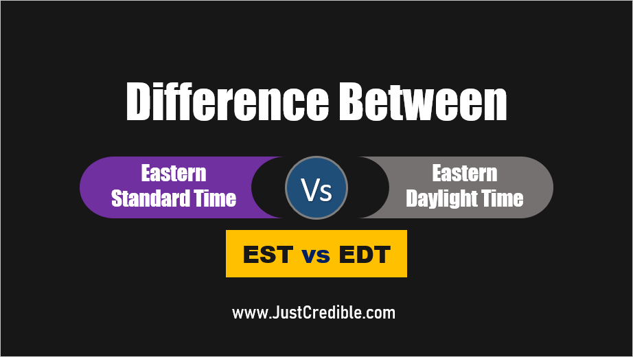 difference between Eastern Standard Time and Eastern Daylight Time - EST vs EDT