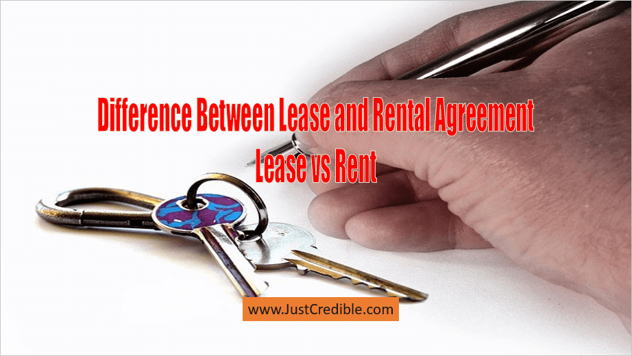 Difference Between Lease and Rental Agreement