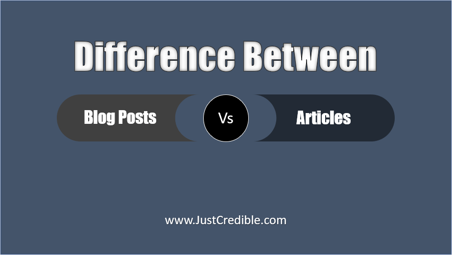 Difference between Blog Posts and Articles